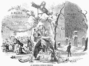 Father Christmas Prints - Christmas Allegory, 1852 Print by Granger
