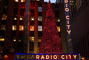 Iconic Radio Posters - Christmas at Radio City Poster by Diane Lent