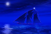 Moonlit Art - Christmas at Sea by Carol and Mike Werner
