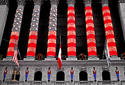 New York Stock Exchange Prints - Christmas at the Exchange Print by Linda  Parker