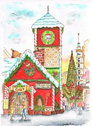 Men Art Painting Originals - Christmas-at-The-Grove-Los Angeles-CA by Carlos G Groppa