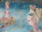 Tiara Paintings - Christmas ballet in the wings by Judith Desrosiers
