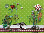Gracie Mixed Media Originals - Christmas Beach by Gracies Creations