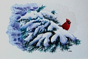Snow Scene Painting Originals - Christmas Beauty by Alla Dickson