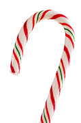 Hard Photo Metal Prints - Christmas candy cane Metal Print by Elena Elisseeva