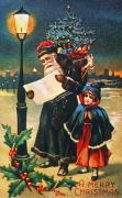 Streetlight Posters - Christmas Card Poster by Granger