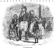 Father Christmas Prints - Christmas Carolers, 1874 Print by Granger