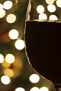 Wine-glass Posters - Christmas Celebration Poster by Andrew Soundarajan
