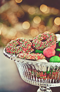Colored Glass Posters - Christmas Chocolates And Sweets Poster by Www.bluemoonfotografie.nl