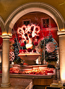 Bellagio Prints - Christmas decor at Bellagio Hotel Print by Jon Berghoff