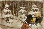 Wintry Mixed Media Prints - Christmas Delivery Print by Maria Dryfhout
