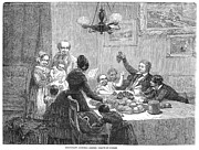Father Christmas Prints - Christmas Dinner, 1848 Print by Granger