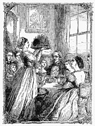Father Christmas Prints - CHRISTMAS DINNER, c1870 Print by Granger