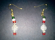 Christmas Jewelry - Christmas Drop Earrings by Karen Jensen