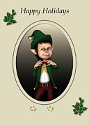 Elf Prints - Christmas Elf Print by John Junek