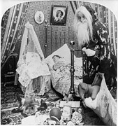 Santa Claus Paintings - CHRISTMAS EVE, c1897 by Granger
