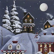 Wreaths Paintings - Christmas Eve by Catherine Holman