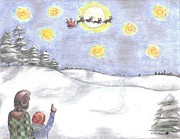 Christmas Eve Drawings - Christmas Eve by Joanna Howell