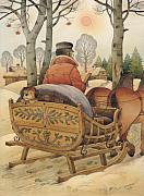 Lanscape Metal Prints - Christmas Eve Metal Print by Kestutis Kasparavicius