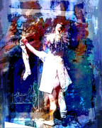 Christ Child Mixed Media Posters - Christmas Eve Preparations Poster by Tammera Malicki-Wong