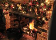 Fireplace Prints - Christmas Fireplace Print by Andy Smy