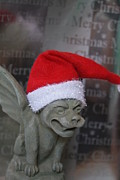 Lotze Posters - Christmas Gargoyle Poster by ChelsyLotze International Studio