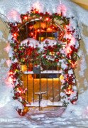 New Mexico Cards Prints - Christmas Gate Print by Lou  Novick