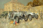 Rolls Royce Framed Prints - Christmas Ghosts at the Hunt House Framed Print by Peter Miller