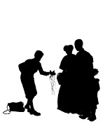 Christmas Gift - A Silhouette 1a Print by Reggie Duffie