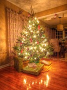Flooring Prints - Christmas Glow Print by Michael Garyet
