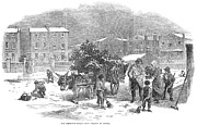 Myles Birket Foster Prints - Christmas Holly Cart Print by Granger