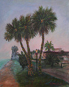 Navidad Paintings - Christmas in Florida by Patty Weeks