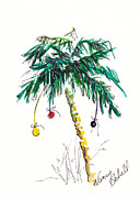 Christmas Notecard Originals - Christmas in Florida Tree by Michele Hollister - for Nancy Asbell