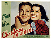 Sturges Photo Metal Prints - Christmas In July, Dick Powell, Ellen Metal Print by Everett