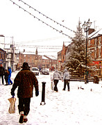 United Kingdom Greeting Cards Posters - Christmas in Ormskirk Poster by Liam Liberty