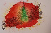 Christmas Greeting Originals - Christmas in Red by Alla Dickson