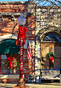 Braches Posters - Christmas in Salado Texas Poster by Linda Phelps