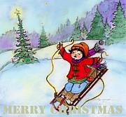 Glenna McRae - Christmas Joy Child on Sled