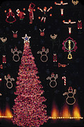 M Court Prints - Christmas Lights Extravaganza Print by Sally Weigand
