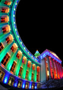 Christmas Lights Of Denver Civic Center Park Print by Kevin Munro