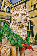 Asheville Framed Prints - Christmas Lion at Biltmore Framed Print by William Jobes