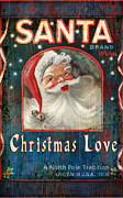 Vintage Mixed Media Metal Prints - Christmas love Metal Print by Joel Payne