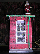 Christmas Window Sculpture Metal Prints - Christmas Memories Metal Print by Gordon Wendling