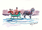 Scarves Painting Originals - Christmas Memories by Michele Hollister - for Nancy Asbell