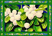 Christmas Flower Paintings - Christmas Mistletoe by Janis Grau