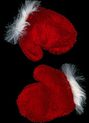 Mitts Posters - Christmas mitts Poster by Marlene Ford