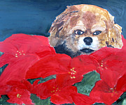 Navidad Paintings - Christmas Mollie by Sandy McIntire
