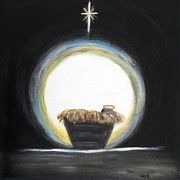 Eye Of Heaven Posters - Christmas Nativity Poster by Diane Wigstone