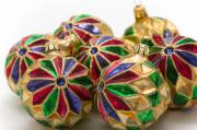 Handblown Glass Prints - Christmas ornaments Print by Louise Heusinkveld