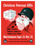 Santa Claus Posters - Christmas Overseas Gifts Poster by War Is Hell Store